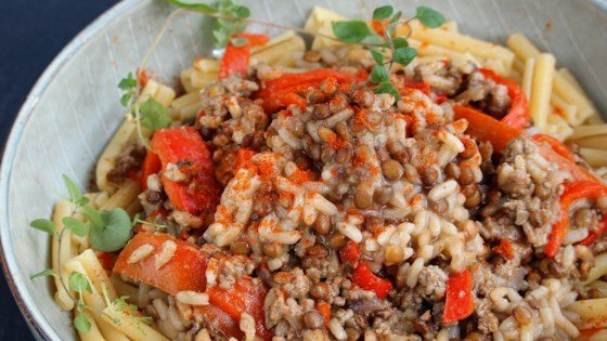 Photo of Lentils with Ground Beef and Rice by katie_luvs2bake!