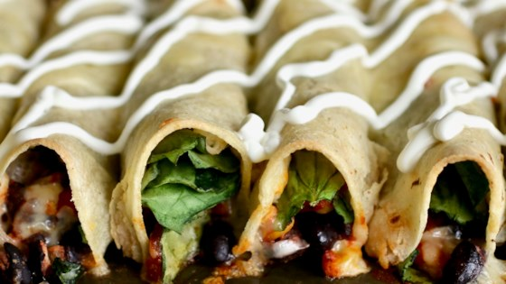 Photo of Baked Black Bean and Spinach Flautas by KIMBERMARIE