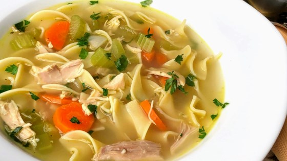 Photo of Chicken Noodle Soup with Egg Noodles by Totally Fit & Fabulous
