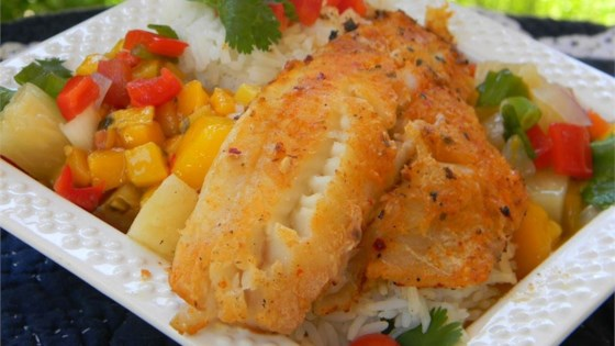 lawannas mango salsa on tilapia fillets review by mama bossi