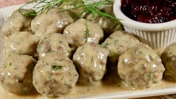 Photo of Swedish Meatballs with Creamy Dill Sauce by lutzflcat