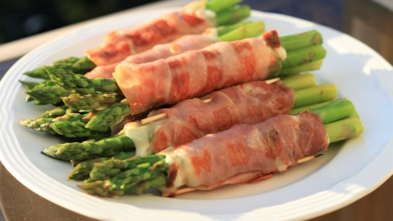 Photo of Prosciutto Wrapped Asparagus with Cheese by clarkie24