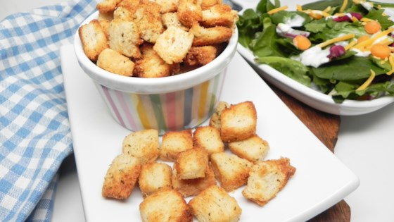 Photo of Homemade Croutons in the Air Fryer by Soup Loving Nicole