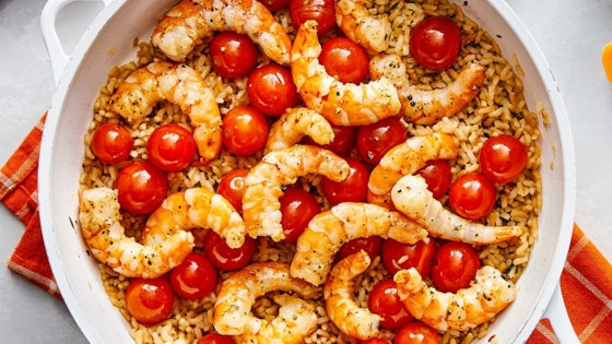 Photo of Garlic Shrimp & Rice with Blistered Cherry Tomatoes by Uncle Ben's