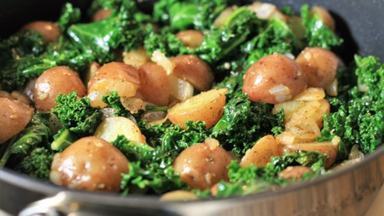 Photo of Sauteed Potatoes with Kale by BeccaM