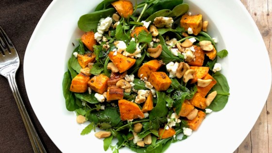 Photo of Roasted Sweet Potato Salad with Feta by Melanie Booth
