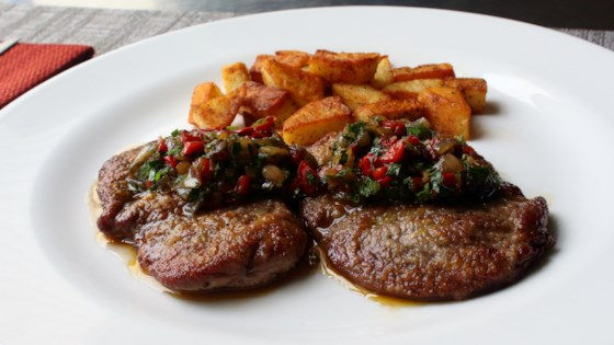 Photo of Lamb Scallopini with Pepper and Onion Agrodolce by Chef John
