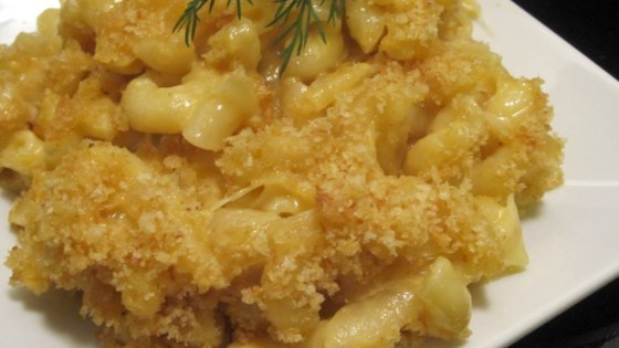 Photo of Mena's Baked Macaroni and Cheese with Caramelized Onion by Malina Bleeding Heart Morris