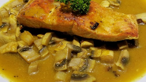 Photo of Seared Salmon with Indian-Inspired Cream Sauce by IMANKAY