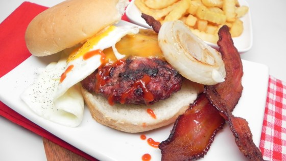 Photo of Bacon and Egg Cheeseburgers by Christina