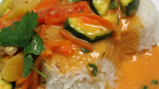 Photo of Thai Red Chicken Curry by THEKNACKEREDCHEF