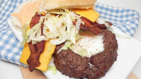 Photo of Egg-in-a-Hole Bacon Cheeseburgers by Jennifer Hanson