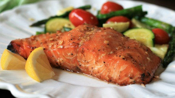 Photo of Grilled Salmon with Maple Syrup and Soy Sauce by Minimartha