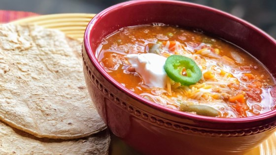easy turkey taco soup review by bex