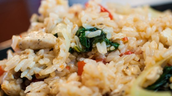 Photo of Thai Spicy Basil Chicken Fried Rice by ErinInVegas