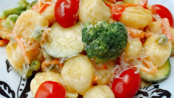 Photo of Skillet Gnocchi Primavera with Lemon Cream Sauce by thedailygourmet