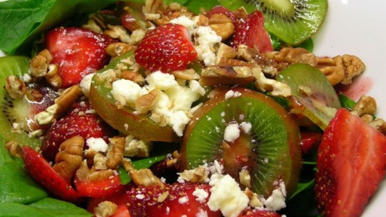 Photo of Strawberry, Kiwi, and Spinach Salad by Amy F.