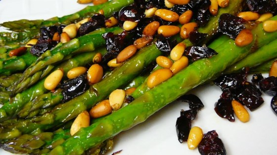 Photo of Asparagus with Cranberries and Pine Nuts by JenM