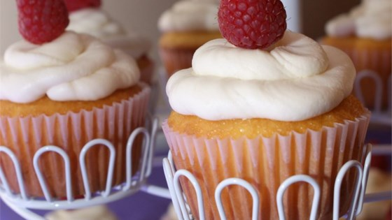 Photo of Raspberry White Chocolate Buttercream Cupcakes by Liz Bensman