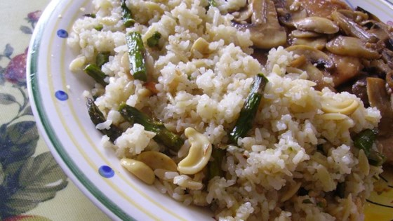 Photo of Asparagus Cashew Rice Pilaf by SABRINATEE