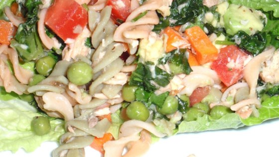Photo of Easy Salmon Brown Rice Pasta Salad by Nichele