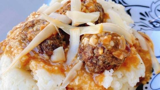 french onion meatballs review by arlene byram slobecheski