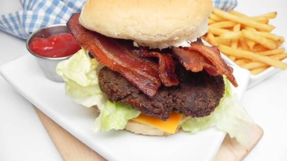 Photo of Juan's Stovetop Bacon Burgers by JUANINAMILLION
