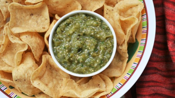 Photo of Air Fryer Roasted Salsa Verde by France C