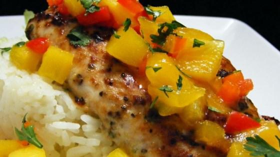 Photo of Mahi Mahi with Coconut Rice and Mango Salsa by SYRAH4689