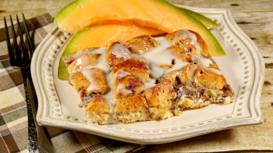 cinnamon roll french toast casserole review by vicki simmons