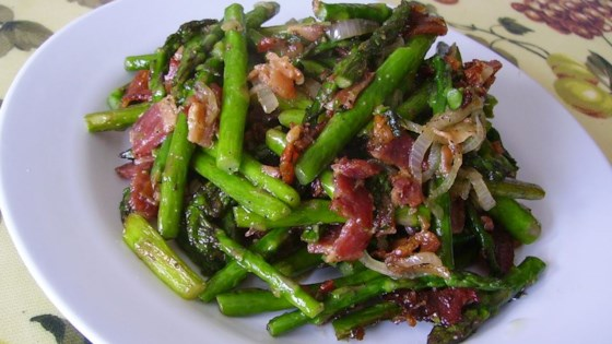 Fried Asparagus with Bacon Recipe