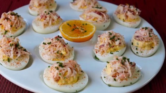 crab stuffed deviled eggs review by inna worrall