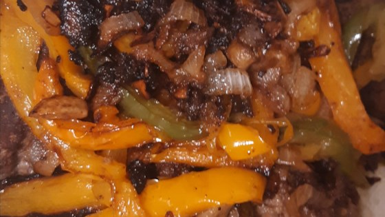 hamburger steaks with peppers onions and mushrooms review