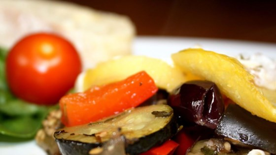 Photo of Ratatouille with Polenta Rounds by emzily23