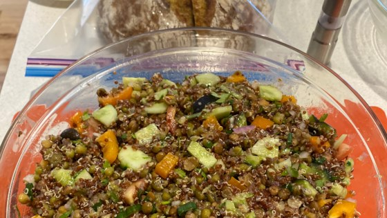 lentil quinoa and mung bean salad review by manella
