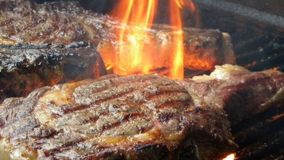 Photo of Big M's Whisky Soaked Beef Rib Steaks by Marcus Hender