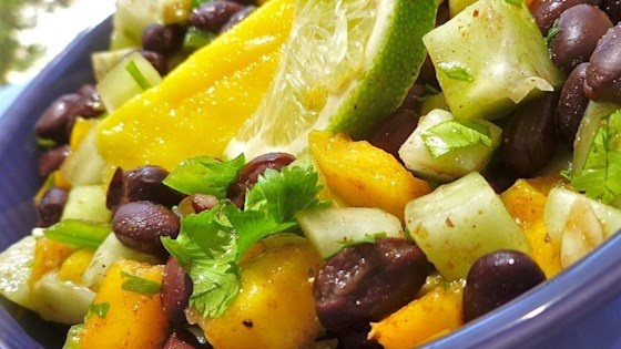 Photo of Cucumber, Mango, and Black Bean Salad by Chrissy