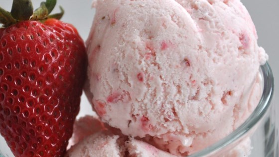 Easy eggless strawberry ice cream recipe allrecipes easy eggless strawberry ice cream ccuart Choice Image