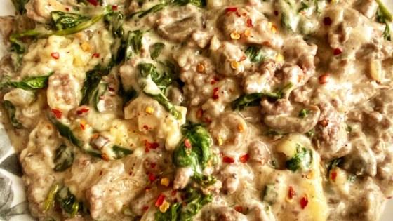 Ground Beef-Spinach Casserole Recipe