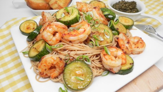 Photo of Summery Shrimp with Pesto by anniegolden