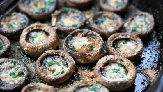 Garlic-Butter Roasted Mushrooms Recipe