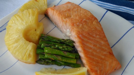 Photo of Maple-Glazed Salmon with Pineapple by Bren
