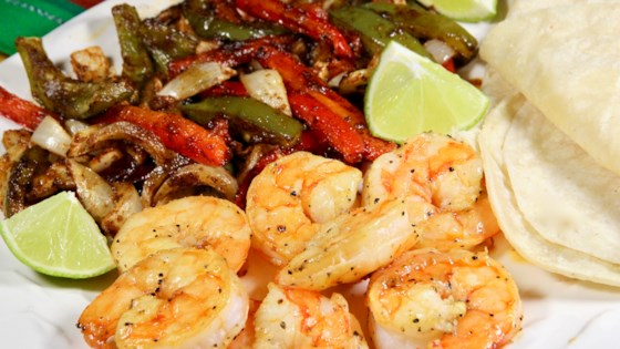 Photo of Easy Sheet Pan Shrimp Fajitas by FrackFamily5 CA—>CT