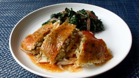 Photo of Garlic Rice Roast Chicken by Chef John