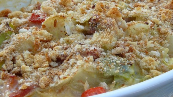 Photo of Scalloped Cabbage with Ham and Cheese by JEANIE BEAN