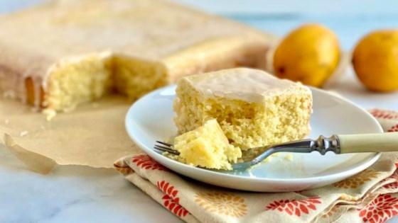 Photo of Lemon Velvet Sheet Cake by Jessie Sheehan