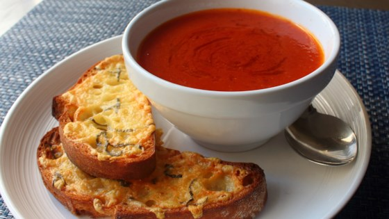 Fresh Tomato Soup with Crispy Cheese Toast