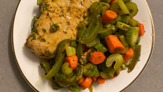baked chicken breasts and vegetables review by robin quintero