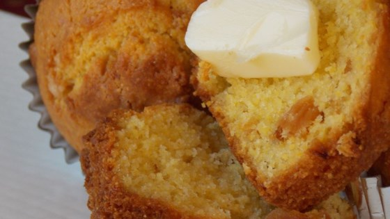 Brown Butter Pineapple Corn Muffins