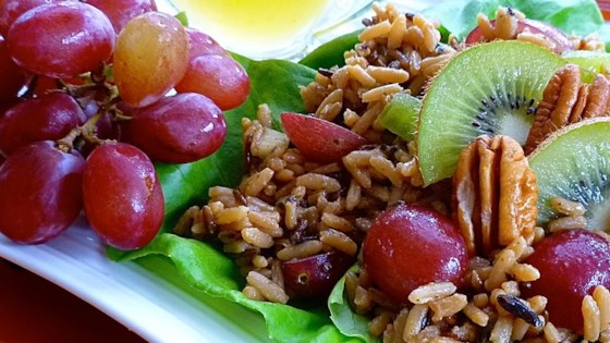 Photo of Nutty Wild Rice Salad with Kiwifruit and Red Grapes by Christine L.